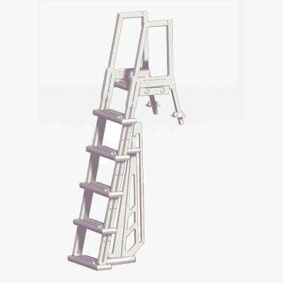 Heavy Duty In-Pool White Ladder for Above Ground Pools