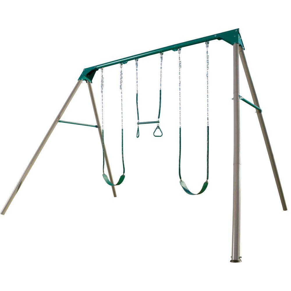 Lifetime A Frame Deluxe Swing Set 290038 The Home Depot