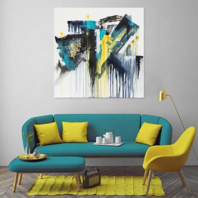 "30 in. x 30 in. ""Envy"" by Mat Printed and Painted Canvas Wall Art"