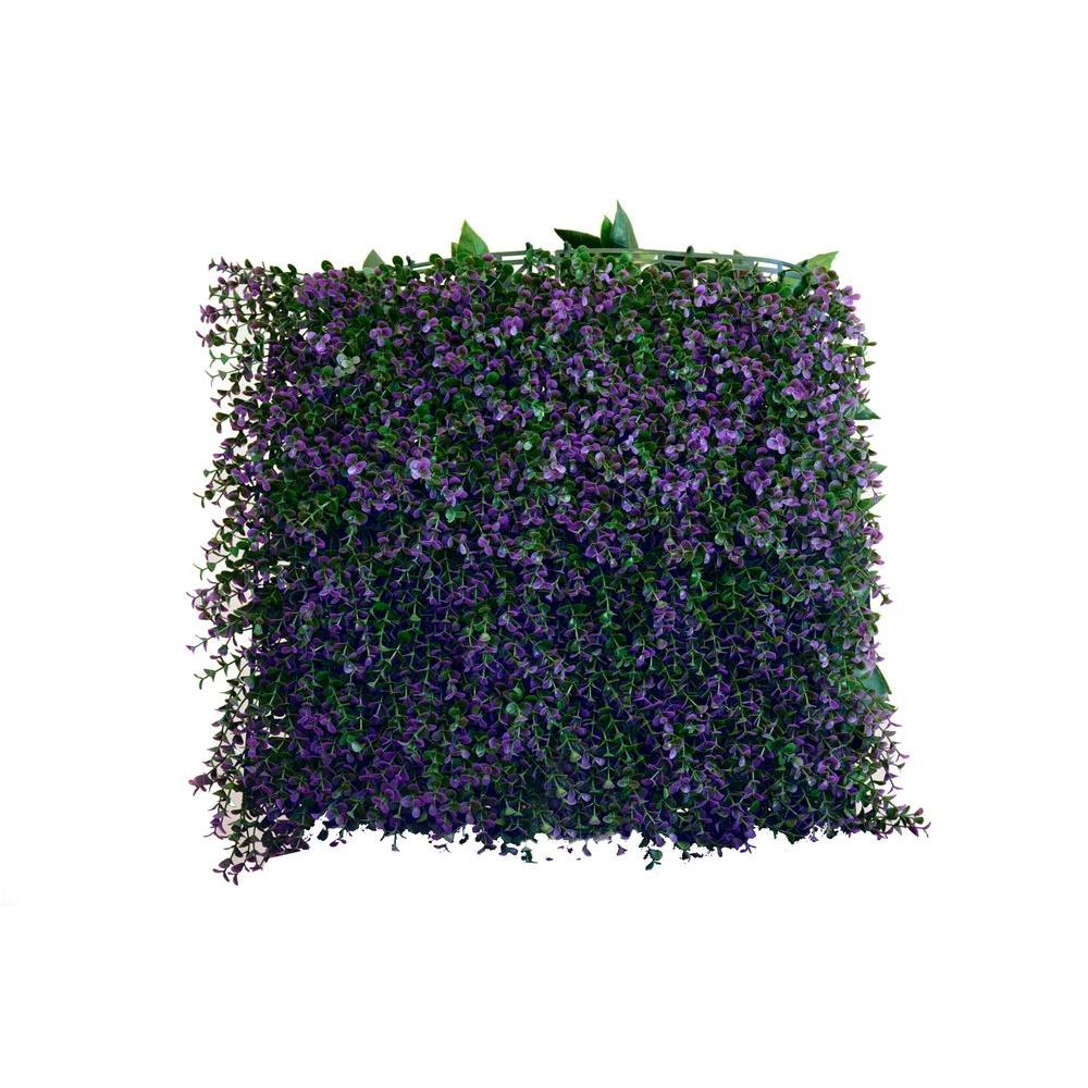 20 in. x 20 in. Artificial Lavender Wall Panels (Set of
