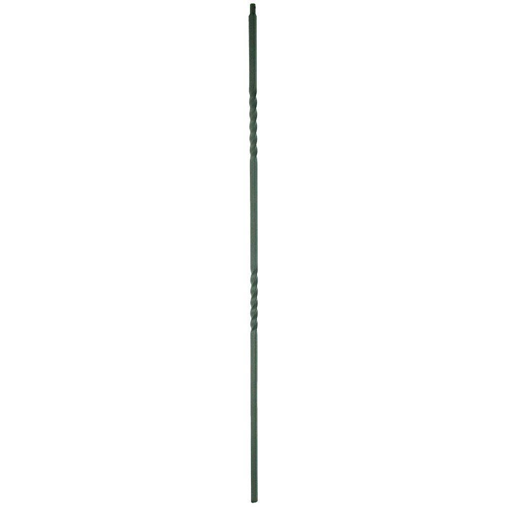 Stair Parts 1/2 in. x 44 in. Matte Black Metal Double-Twist Baluster