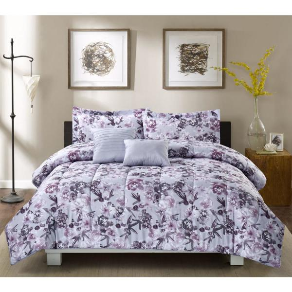 Bloom Dusty Dream 5-Piece Full/Queen Comforter Set BL501GY13