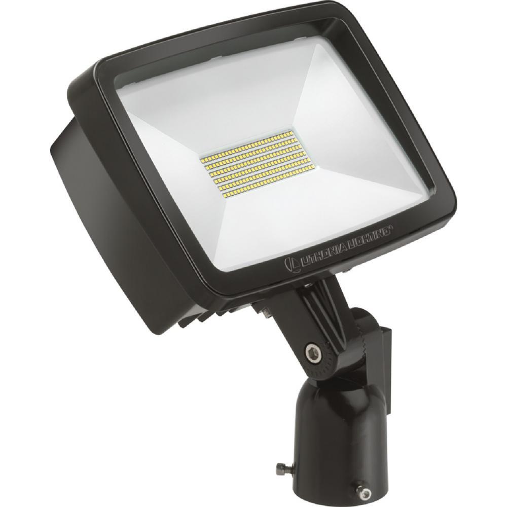 Contractor Select TFX2 94-Watt Dark Bronze Slip Fitter Mount 5000K Outdoor Integrated LED Flood Light