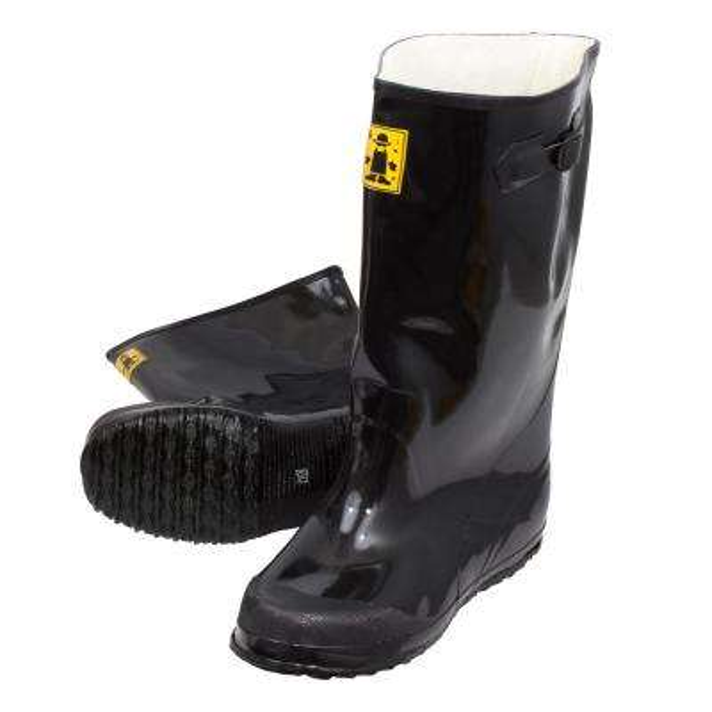 Men Slush Boots 17 in. Size 9 Black Heavy-Duty Rubber Over-Shoe (6-Pack)