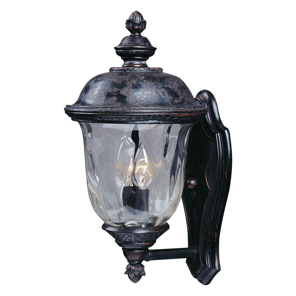 Maxim Lighting Carriage House DC 2-Light Oriental Bronze Outdoor Wall Lantern