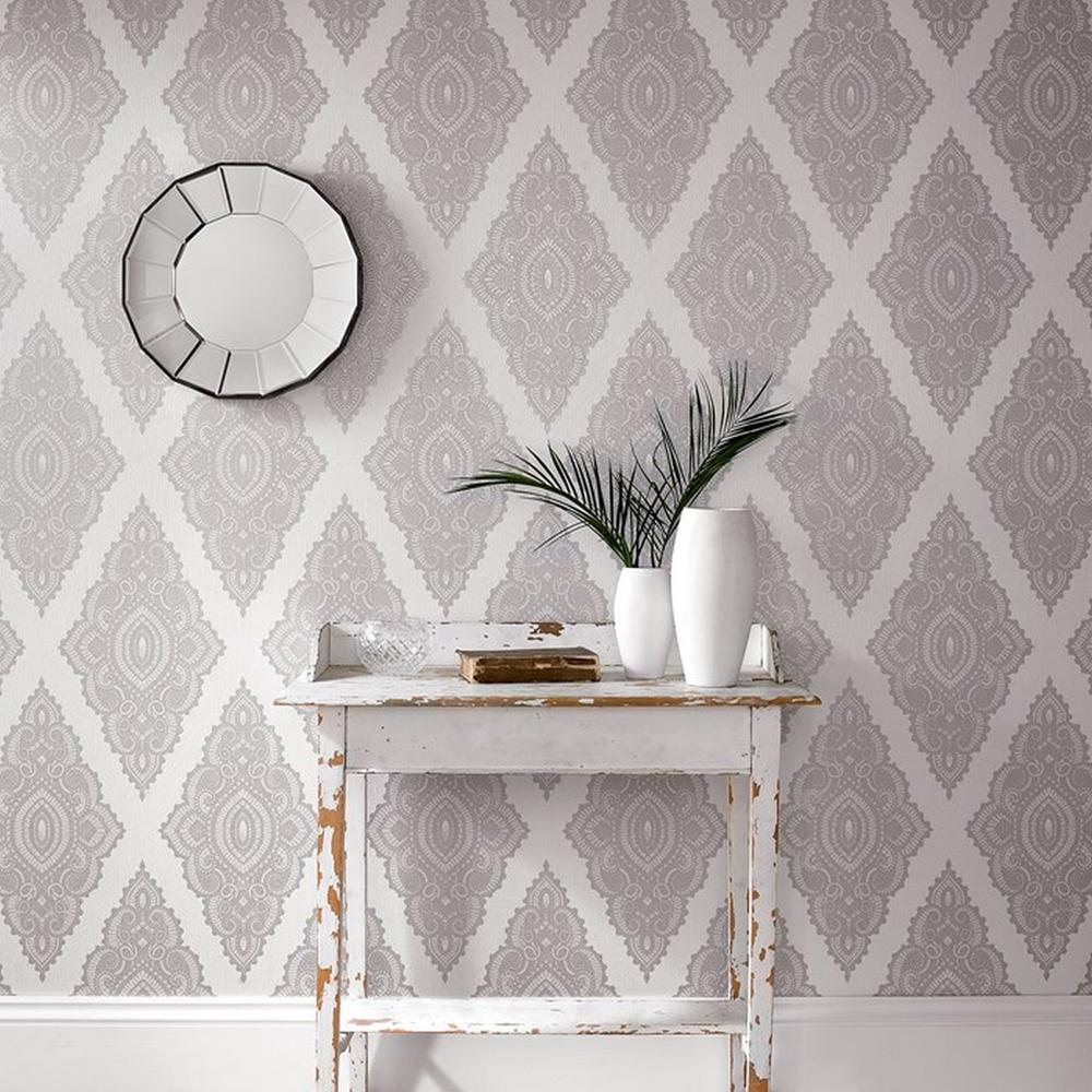 Jewel White Removable Wallpaper