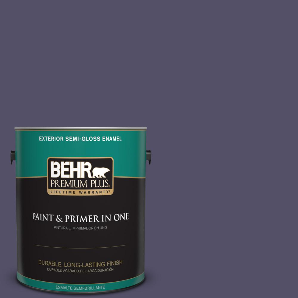 1 gal. #PPU16-19 Mardi Gras Semi-Gloss Enamel Exterior Paint