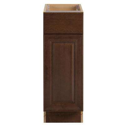 Benton Assembled 12x34.5x24.63 in. Base Cabinet with Soft Close Full Extension Drawer in Butterscotch