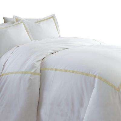 Warm Sand 600-Count 3-Piece Queen Duvet Set