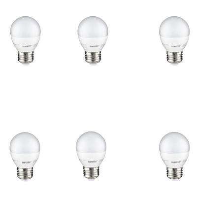 60-Watt Equivalent Frost Warm White G16 Dimmable LED Light Bulb (6-Pack)