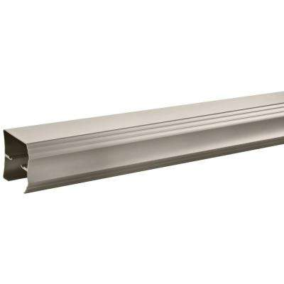 60 in. Sliding Bathtub Door Track Assembly Kit in Nickel