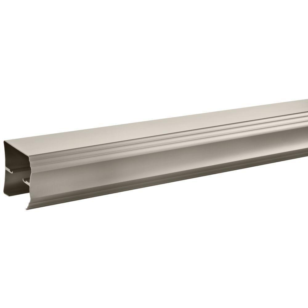 60 in. Semi-Frameless Traditional Sliding Bathtub Door Track Assembly Kit in Nickel