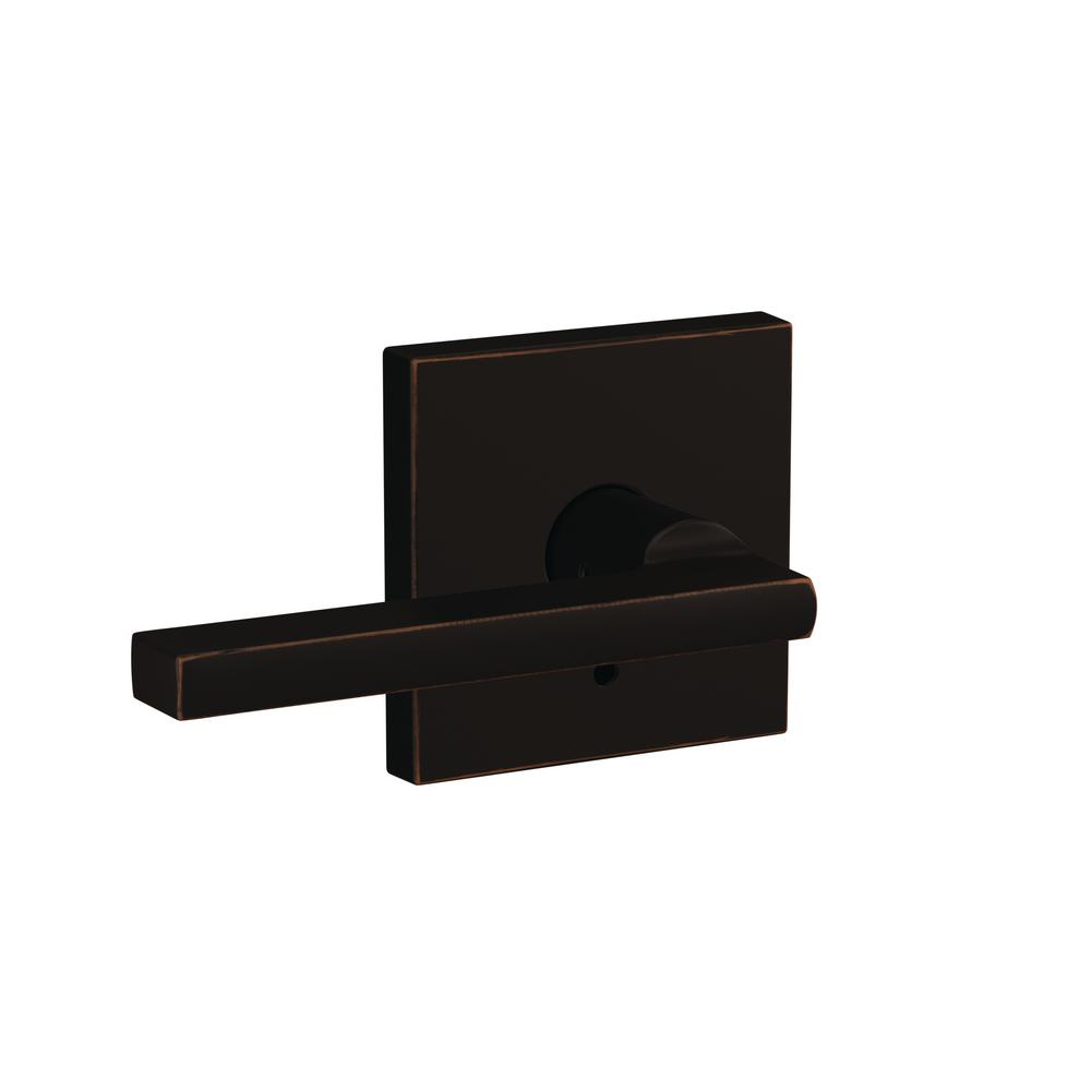 Schlage Custom Latitude Aged Bronze Collins Trim Combined