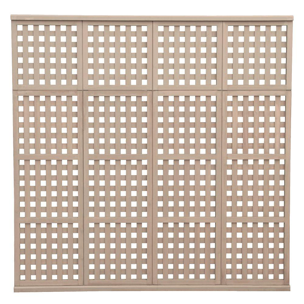 Yardistry 78.5 in. x 77.5 in. 4 High Privacy Lattice Panel-DISCONTINUED