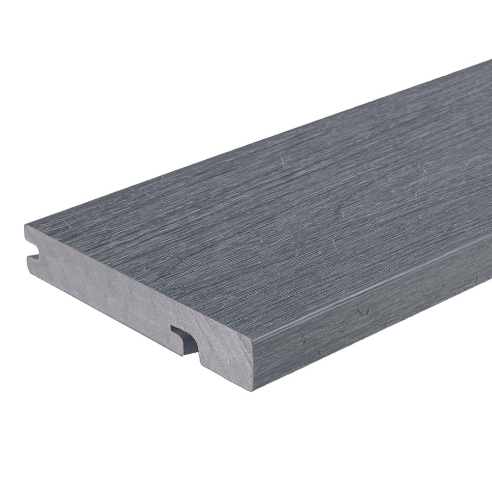 NewTechWood UltraShield Naturale Columbus Series 1 in. x 6 in. x 16 ft. Westminster Gray Solid Composite Decking Board
