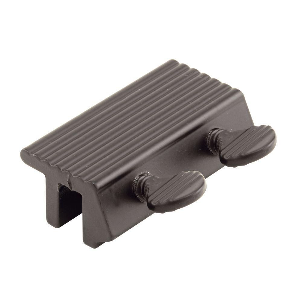 Prime-Line Sliding Door Channel Lock, Double Thumbscrew, Black Finish