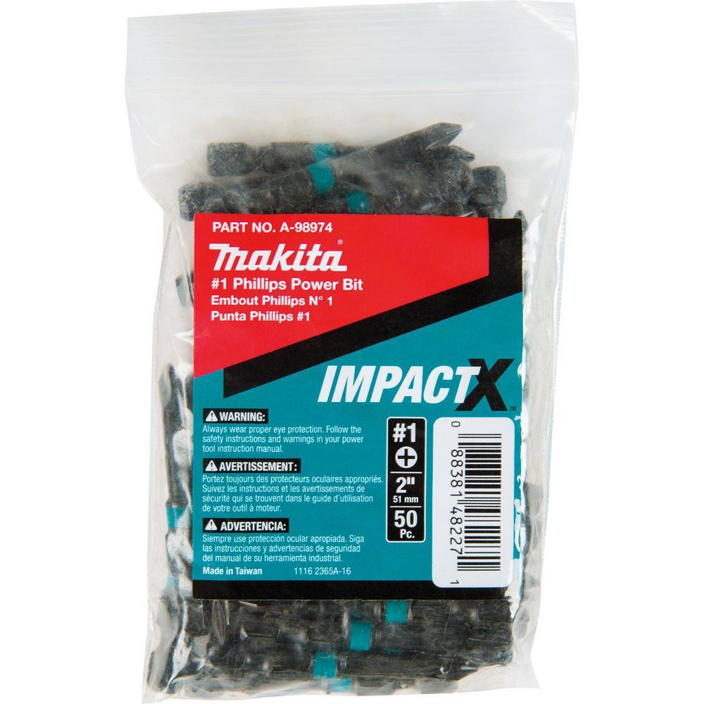 ImpactX #1 Phillips 2 in. Modified S2 Steel Power Bit (50-Pack)