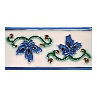Hand-Painted Invierno Deco 3 in. x 6 in. x 6.35mm Ceramic Wall Tile (1.25 sq. ft. / case)
