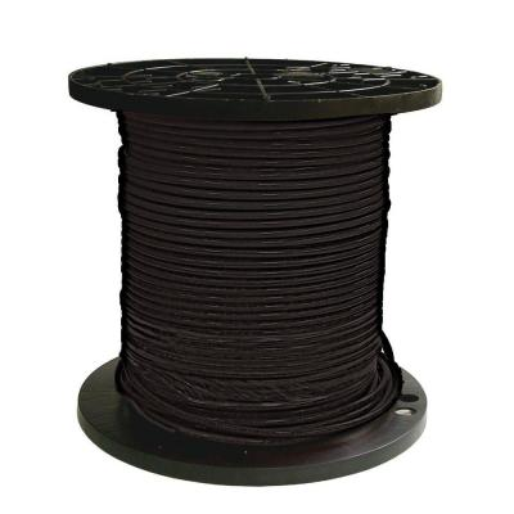 500 ft. 6 Black Stranded CU SIMpull THHN Wire