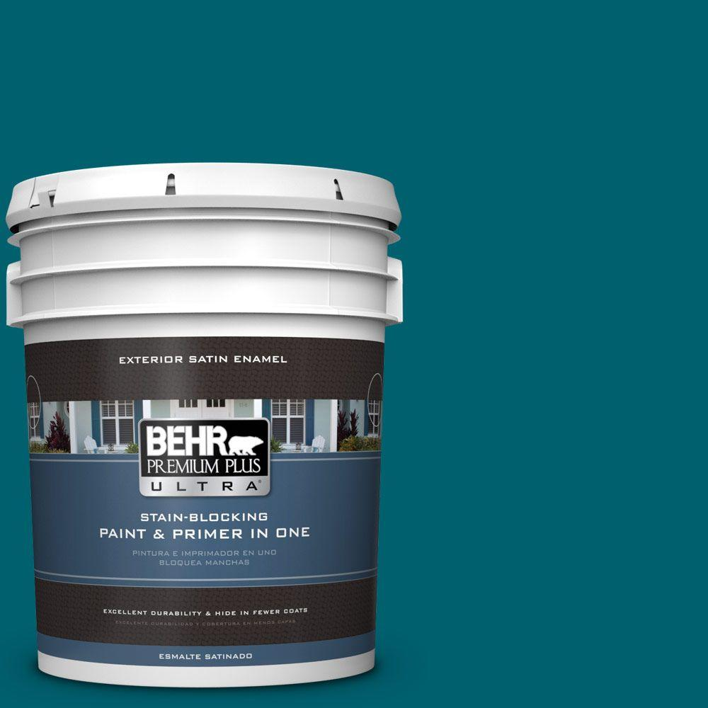BEHR Premium Plus Ultra 5-gal. #S-H-520 Peacock Tail Satin Enamel Exterior Paint