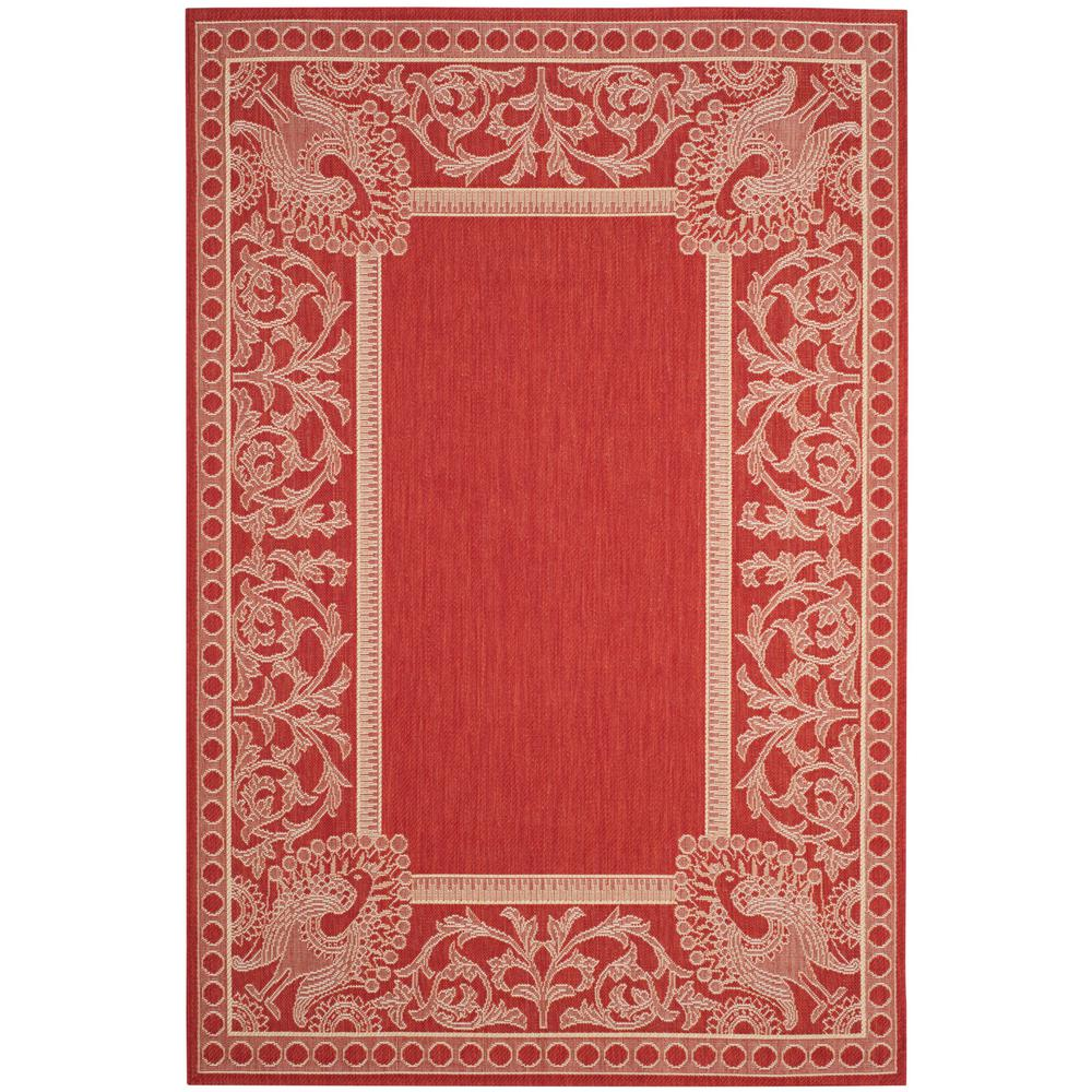 Safavieh Courtyard Red Natural 8 Ft X 11 Ft Indoor
