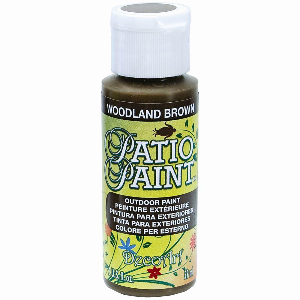 2 oz. Patio Woodland Brown Acrylic Paint