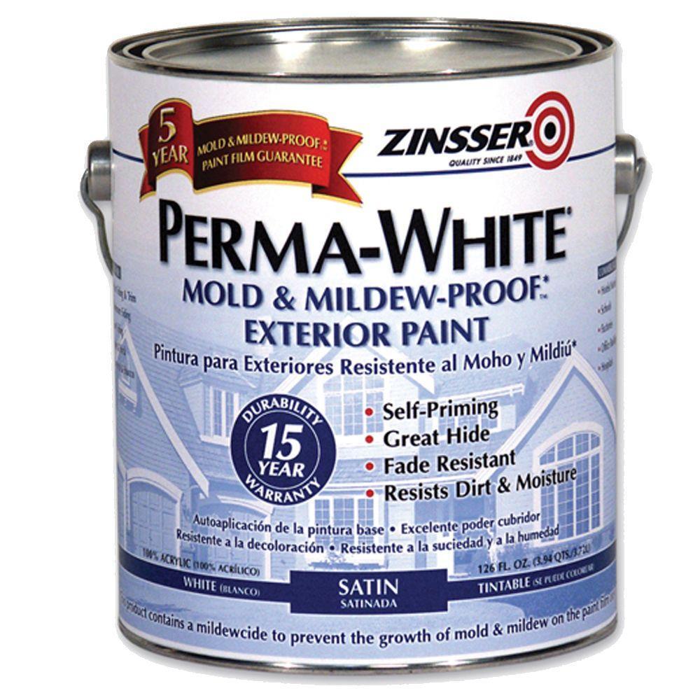 Zinsser 1-gal. Perma-White Satin Exterior-DISCONTINUED