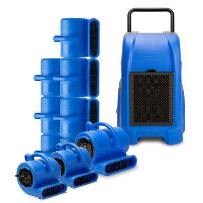 1 Commercial Dehumidifier, 8 Air Mover, 2 Mini Air Mover Water Contractor Pack