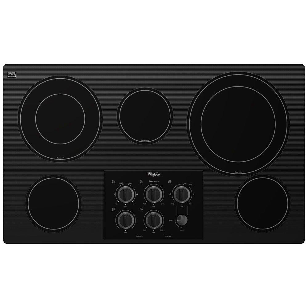 Whirlpool Gold 36 in. Radiant Electric Cooktop in Black w...