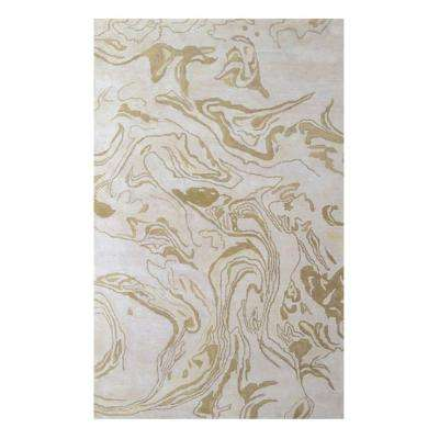 Marble Ivory 2 ft. x 3 ft. Indoor Area Rug