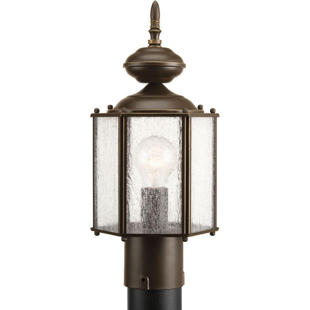 Roman Coach Collection 1-Light Antique Bronze Outdoor Post Lantern