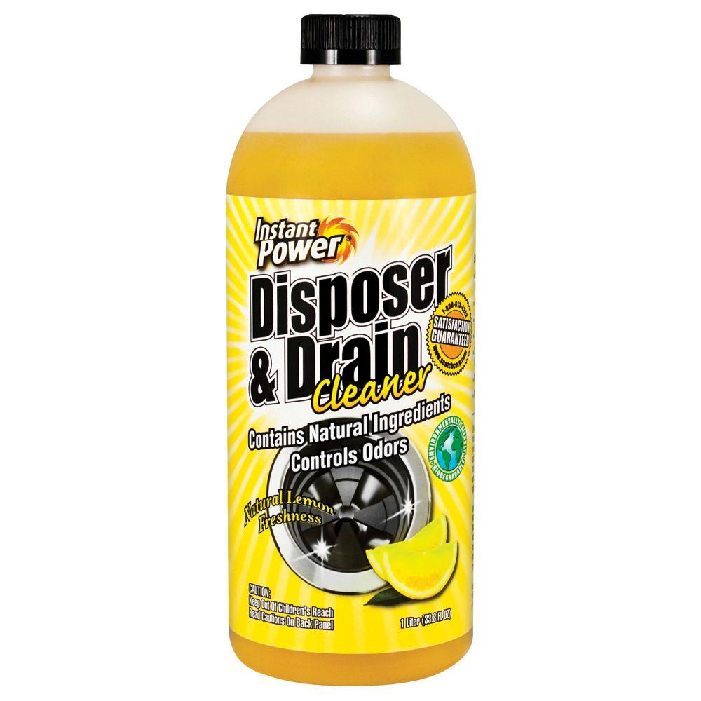 Instant Power 33.8 oz. Disposal and Drain Cleaner Lemon