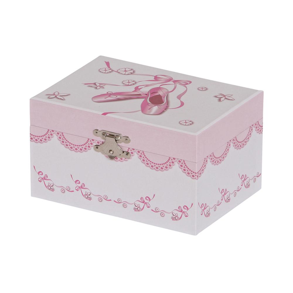 Clarice Girl's White Fashion Paper Musical Ballerina Jewelry Box