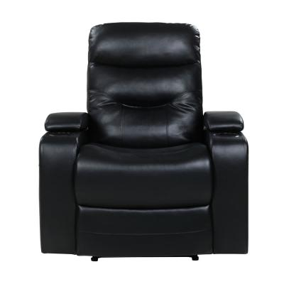 Springfield Black Faux Leather Recliner