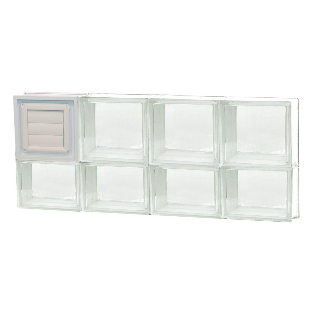 31 in. x 13.5 in. x 3.125 in. Dryer Vent Clear