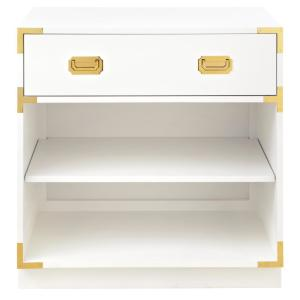 Chatham 1-Drawer White Nightstand