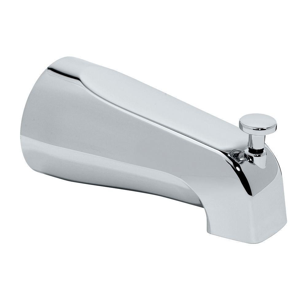 Diverter Slip-On Tub Spout, Polished Chrome