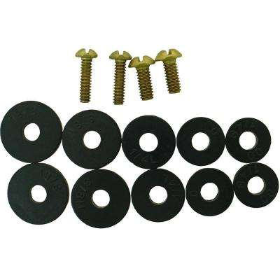 Flat Faucet Washer Assortment with Screws (14-Pack)