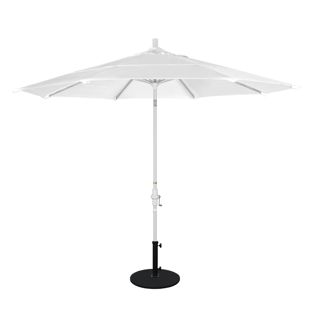Attrayant California Umbrella 11 Ft. Aluminum Collar Tilt Double Vented Patio Umbrella  In Natural Pacifica