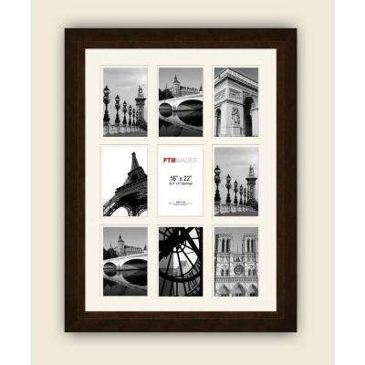 9-Opening 19-1/2 in. x 25-1/2 in. Multi-sized White Matted Photo Collage Frame