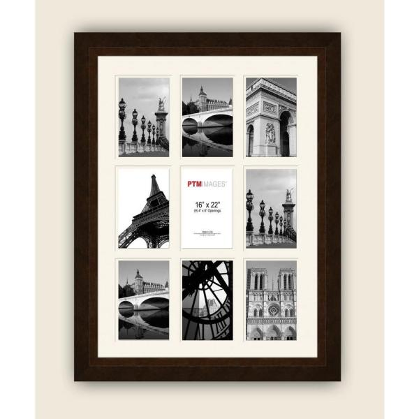 PTM Images 9-Opening 19-1/2 in. x 25-1/2 in. Multi-sized White Matted