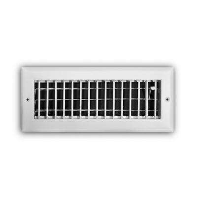 12 in. x 4 in. Adjustable 1-Way Wall/Ceiling Register