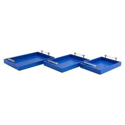Gela Blue Trays (Set of 3)