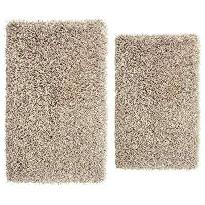 Stone 20 in. x 30 in. and 24 in. x 40 in. Melbourne Bath Rug Set (2-Piece)