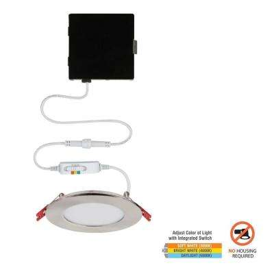 Ultra Slim 4 in. Color Selectable Canless LED Recessed Kit