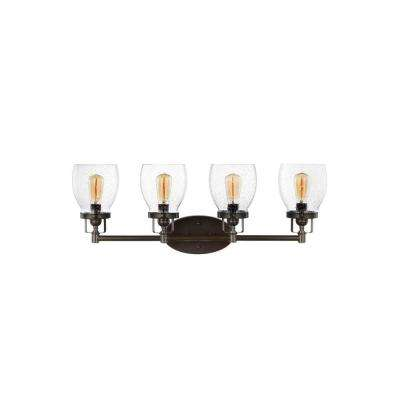 Belton 28.75 in. W. 4-Light Heirloom Bronze Vanity Light