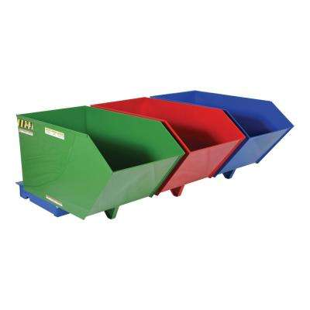 2,000 lb. Capacity Triple Bin Recycling Hopper