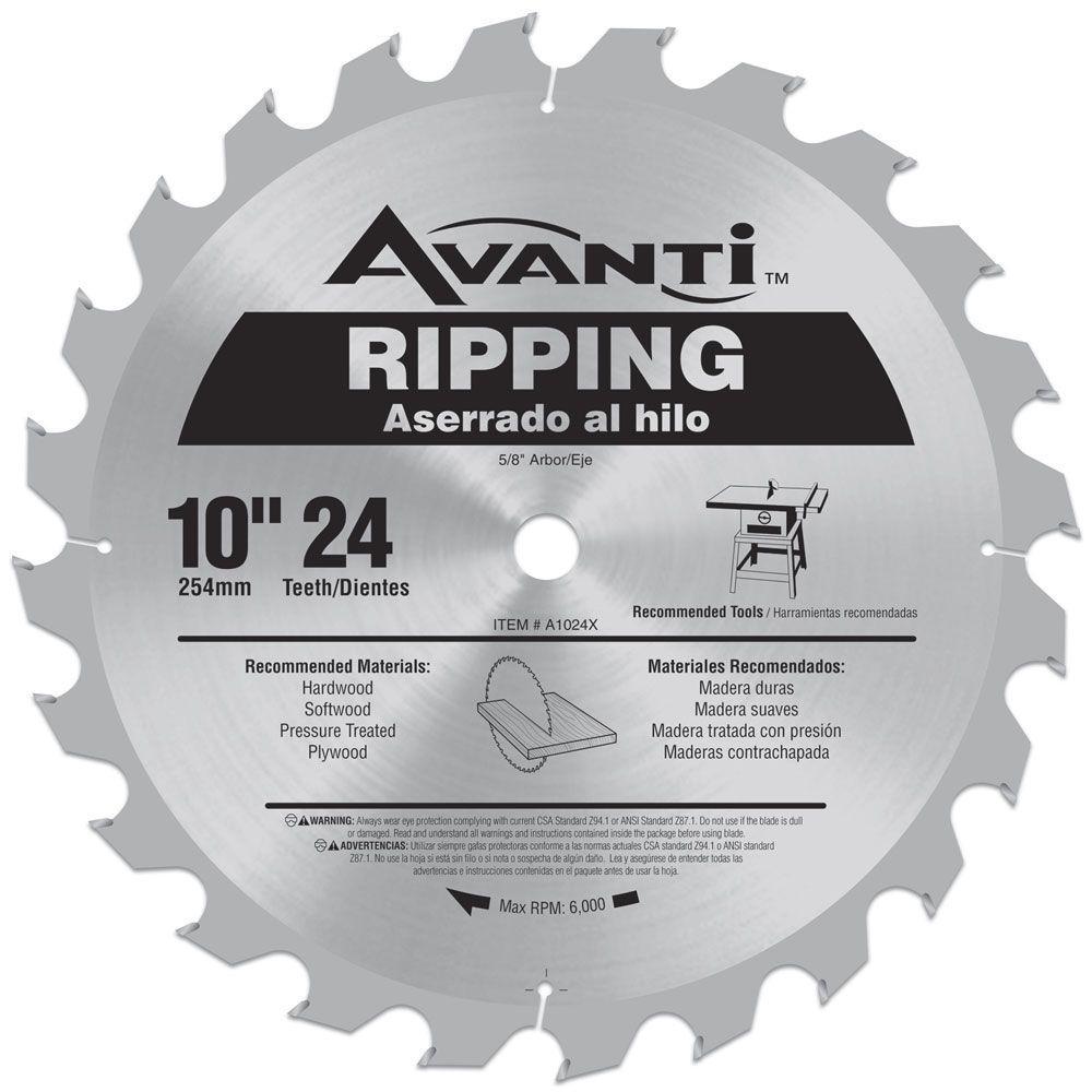 10 in. x 24-Teeth Ripping Saw Blade