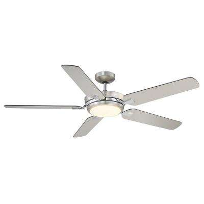 54 in. LED Satin Nickel Ceiling Fan