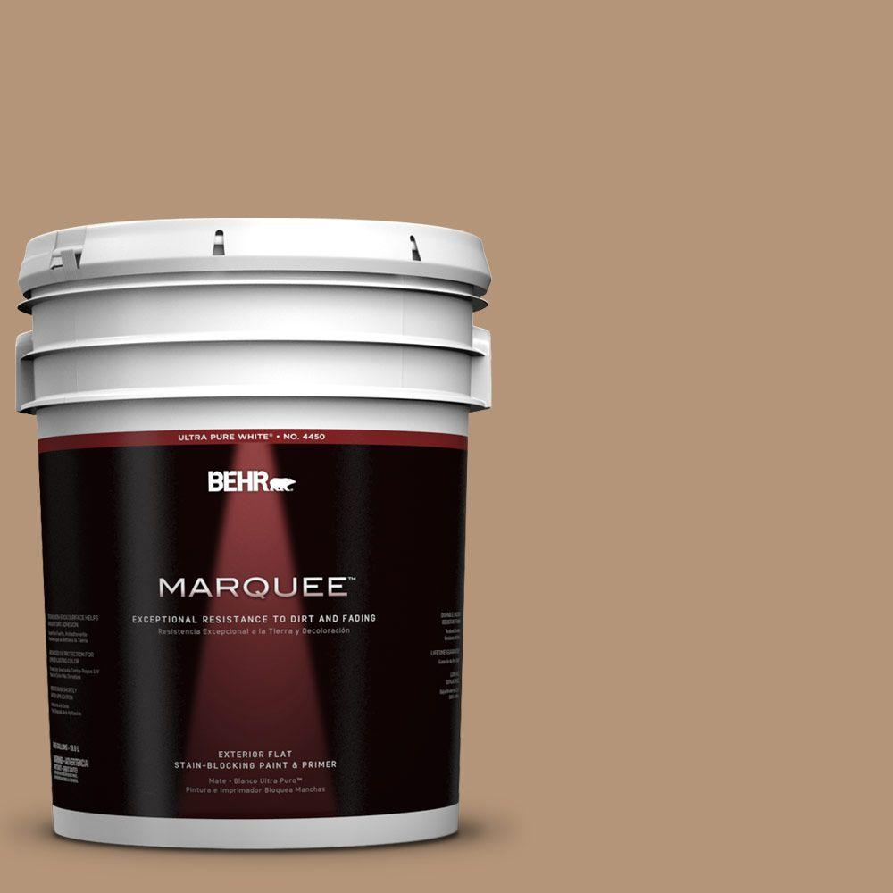 BEHR MARQUEE 5-gal. #280F-4 Burnt Almond Flat Exterior Paint, Browns/Tans